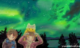 オーロラの見える夜 Beautiful Northern Lights